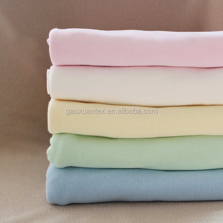 China factory price textile manufacture knit solid dyed cotton fabric
