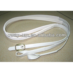 Hot sale luxury white horse PVC and rubber rein for women