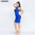 Women's Bandage Dress Backless Bule Halter Sleeveless Bodycon Party Dresses