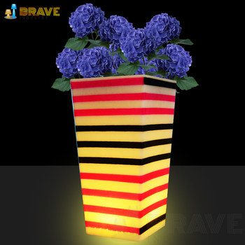 Outdoor Christmas Large Tree Decorative Lighted Led Flower Pots