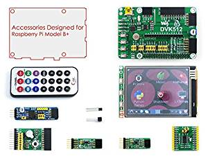 Waveshare Raspberry Pi Model B+ Plus Accessories A= DVK512 Expansion Board +3.2'' LCD + Modules Kits for Raspberry-pi
