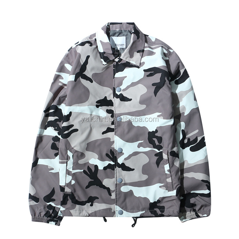 China custom fábrica jaqueta bomber jacket atacado mens camo nylon treinadores