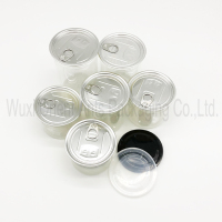 Clear plastic PET can with easy open lid for dried food nut