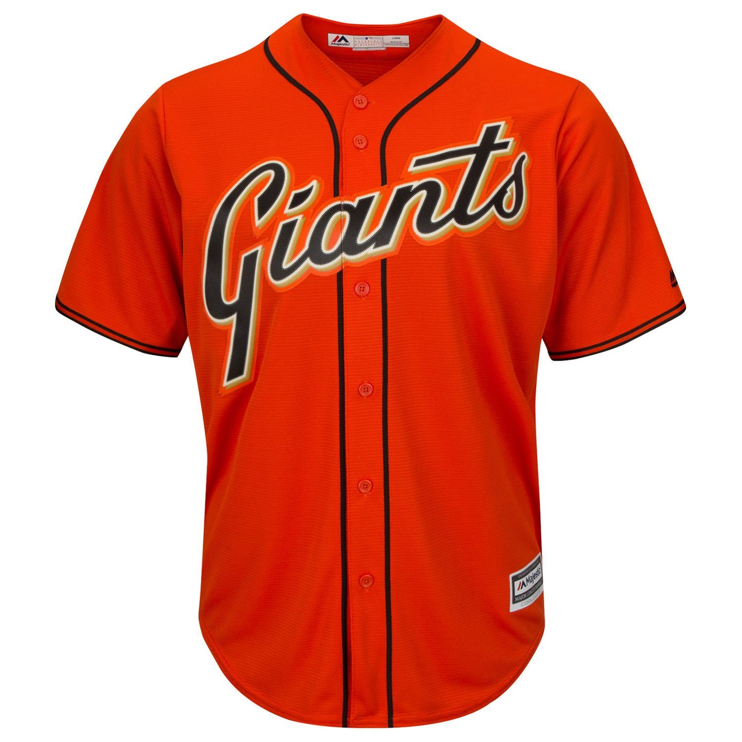 Get Quotations · San Francisco Giants Word Mark Orange Youth Cool Base  Alternate Replica Jersey 32782f5d4