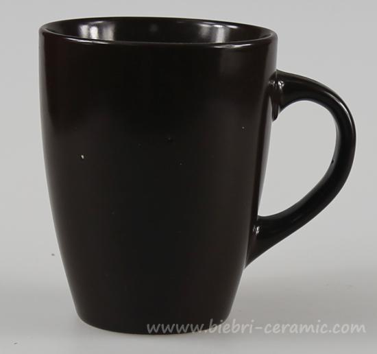 10oz Brown Color Glazed Logo Decal Printable Custom Ceramic Coffee Mugs