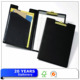 Pu leather clipboard folder with pocket/clipboard with memo pad