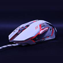 Игровая Мышь Мыши DPI Регулируемая Компьютерная Оптическая LED Игры Мыши Проводной USB Игры Кабель Мыши LOL для Профессиональных Игроков(Китай)