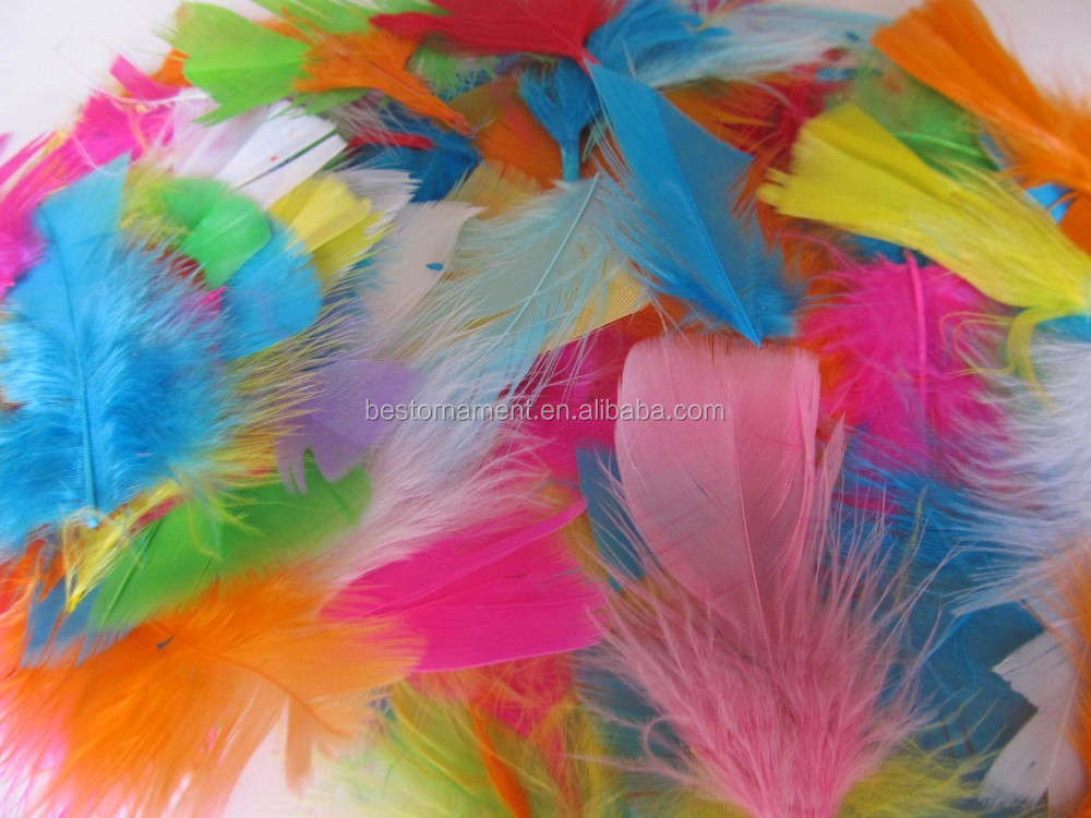 Assorted Colours Beautiful Fluffy Craft Feather