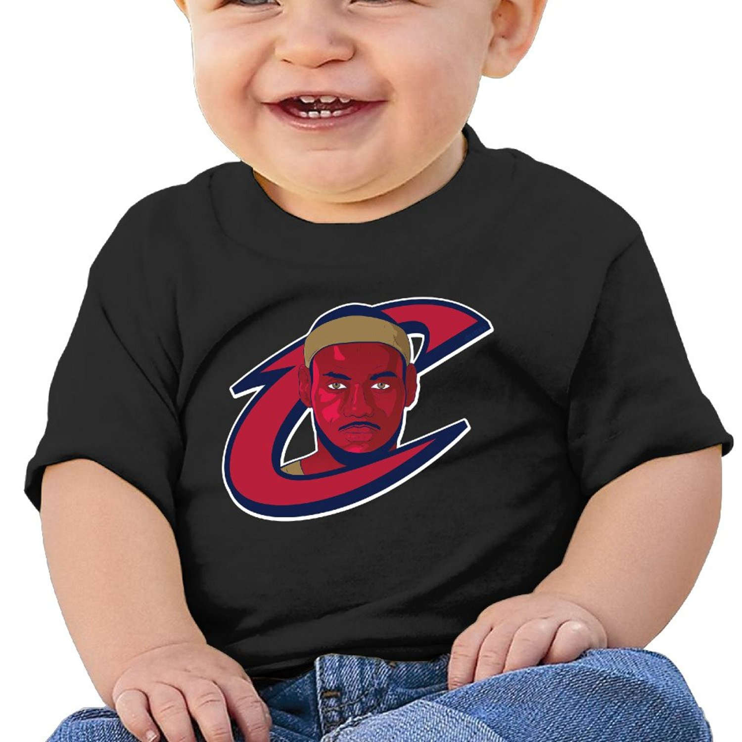8ca6019f1227 Get Quotations · MDSHOP Unisex-Baby   Toddler   Infant Cleveland Cavaliers  Basketball Player LeBron Cotton O-