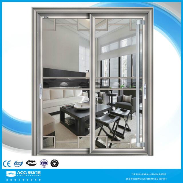 China Supplier Smart Glass Door/glass Door Metal Frame/oval Glass Entry Door