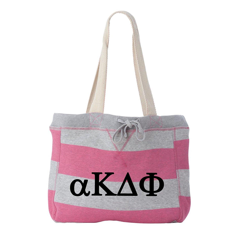 Alpha Kappa Delta Phi Striped Beachcomber Tote Bag