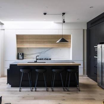 Muebles Para El Hogar Moderno Mdf Pvc Película Diseño De La Cocina ...