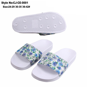 Fresh color upper outdoor sport women slipper custom slippers