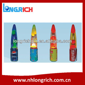 2018 promotional gifts metal base floating novelty lava lamp