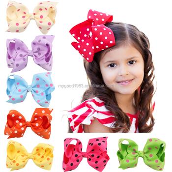 Ribbon girl headbands Children s Hair dot bow clips Headwear bands baby hair  bows 09ff9ce0a24