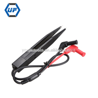 SMD Inductor Test Meter Clip Probe Tweezers for Resistor Capacitor Multimeter