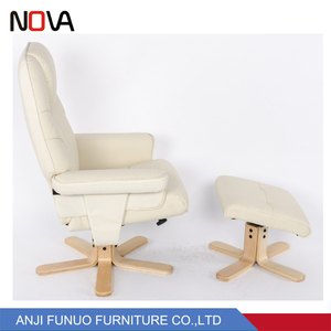 2018 Factory Wholesale Custom Fashion Modern China Beige Leather Recliner Chair