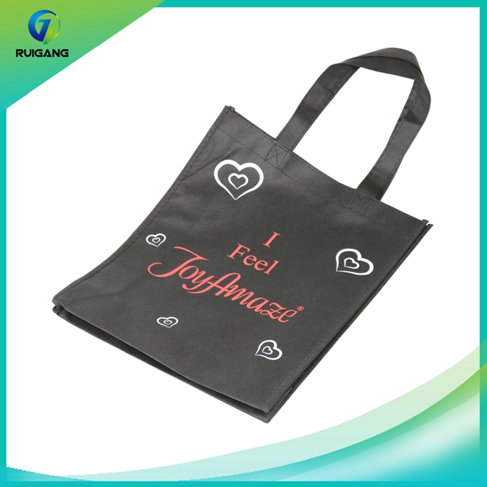 Supplier promotinal sale black color packing non woven bags