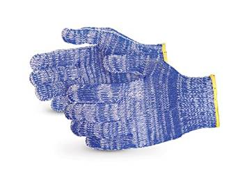 Superior SNWCPNT Emerald CX Nylon/Polyester/Cotton/Stainless Steel Wire-Core Composite-Knit Glove with Nitrile Palms, Work, Cut Resistant, 7 Gauge Thickness, Large, Speckled Blue (Pack of 1 Pair)