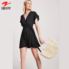 Wholesale summer light chiffon women clothing dress black
