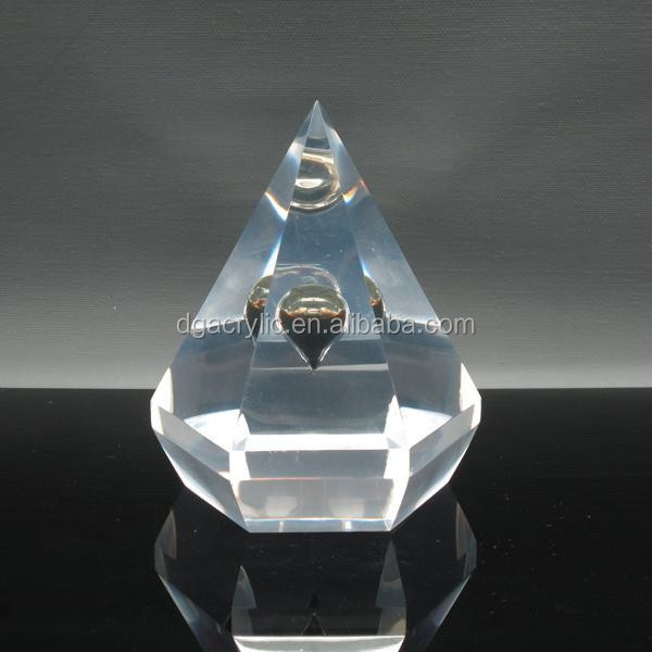 Acrylic Resin Diamond Paper Weight for Oil Souvenir Embedment Gift