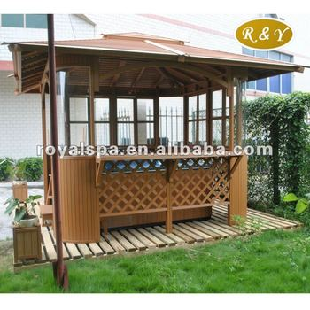Garden Wooden Outdoor Bar Gazebo