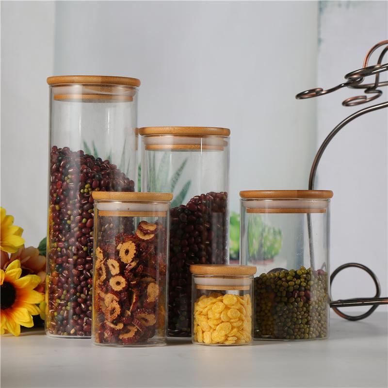 Manufactory Wholesale High borosilicon COFFEE TEA SET HOME STORAGE KITCHEN JAR Glass jar
