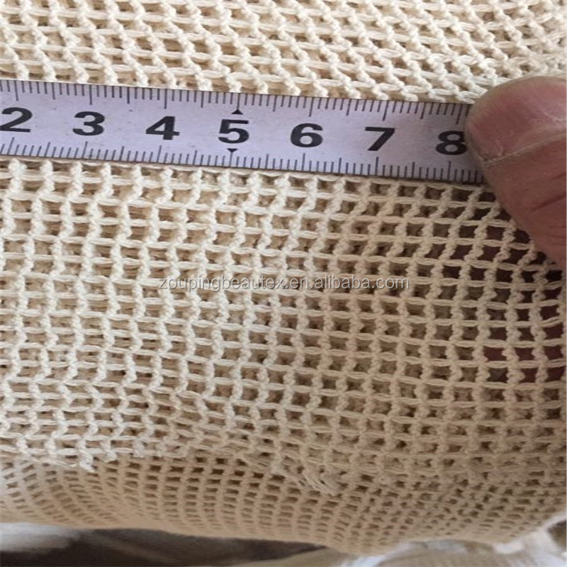 Hot sale big hole cotton netting mesh fabric in stock