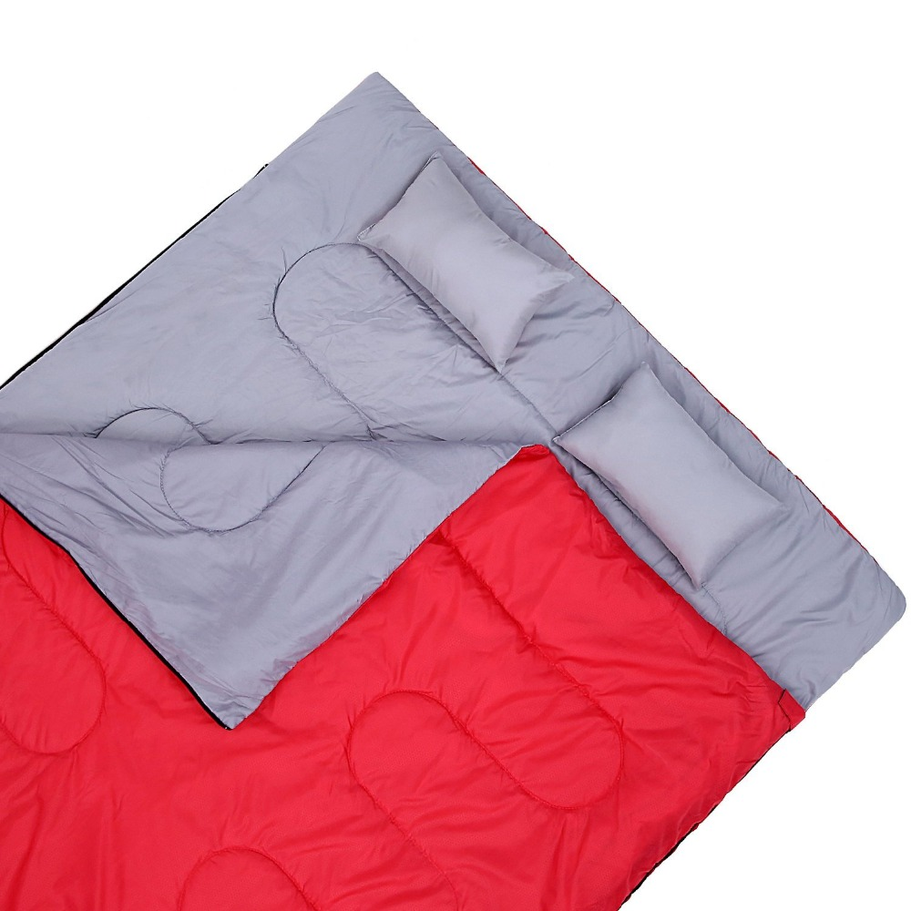 Double Sleeping Bag For Backng Camping Or Hiking Queen Size Xl Cold Weather 2 Person Waterproof S