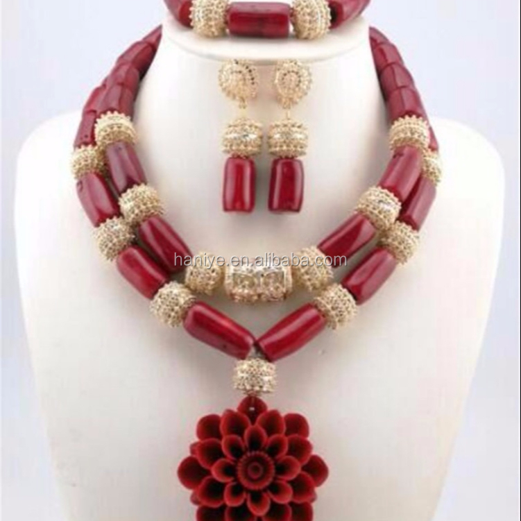 Big African Jewelry Set Nigerian Wedding/Party Crystal Beads Jewellry Sets