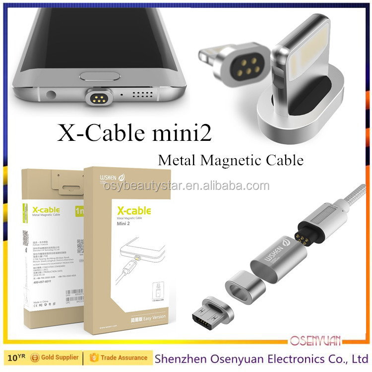 Double Metal Magnetic Plug For Micro USB/iPhone Magnetic Cable
