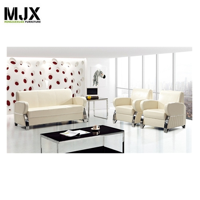 Modern Comfortable Seating Sectional Office Sofa Furniture With Durable  Leather Covered