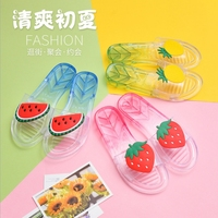 Wholesale Cheap PVC Jelly Fruit Slipper Factory Summer flat sandal comfortable beach shoes women slippers