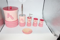 Lovely girl series polyresin bath set accessories