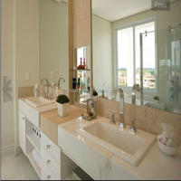beautiful design white artificial stone bathroom quartz sink
