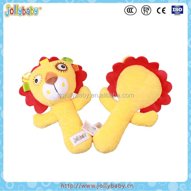 Jollybaby 2017 New Design Funny Lion Animals Baby Rattle/Soft Baby Rattle Toy Made In China Dongguan