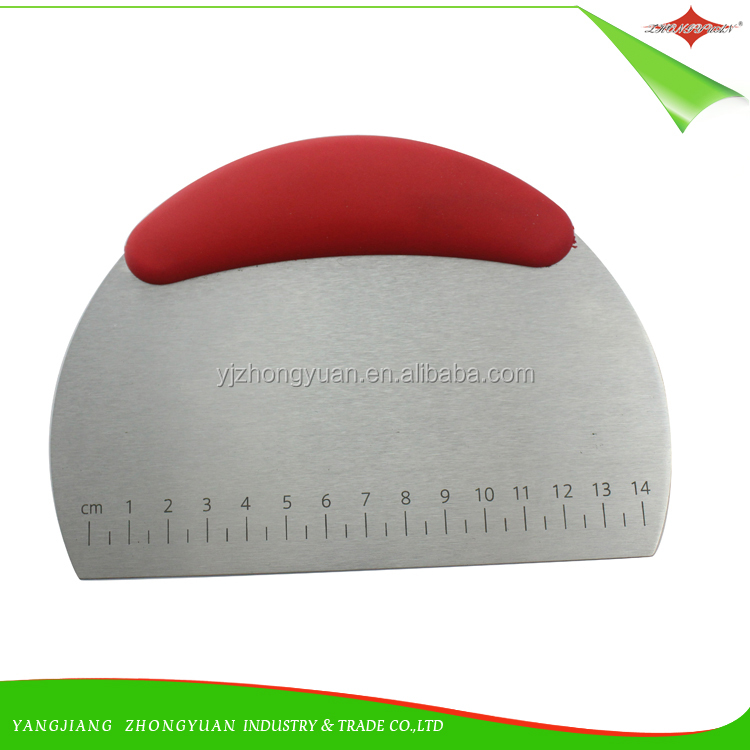 ZY-F1657 Stainless Steel Dough Scraper Pastry Pizza Scraper and cutter