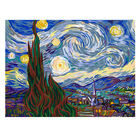 DIY Oil Painting Paintworks for Kids Adults Starry Night Van Gogh Paint by Number Kit