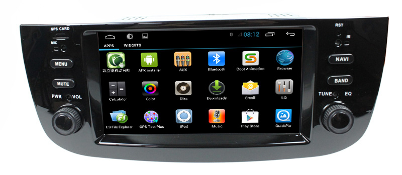 LSQSTAR Multi-touch Capacitive Screen 3G internal Wifi for Fiat Linea/punto Android 4.2.2 car stereo With Gps