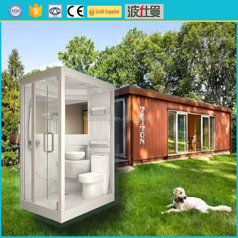 Factory supply hotel motel container use portable prefab unit bathroom pod