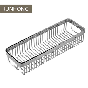 Hot Selling Wall Hanging Bathroom Stainless Steel Wire Storage Basket