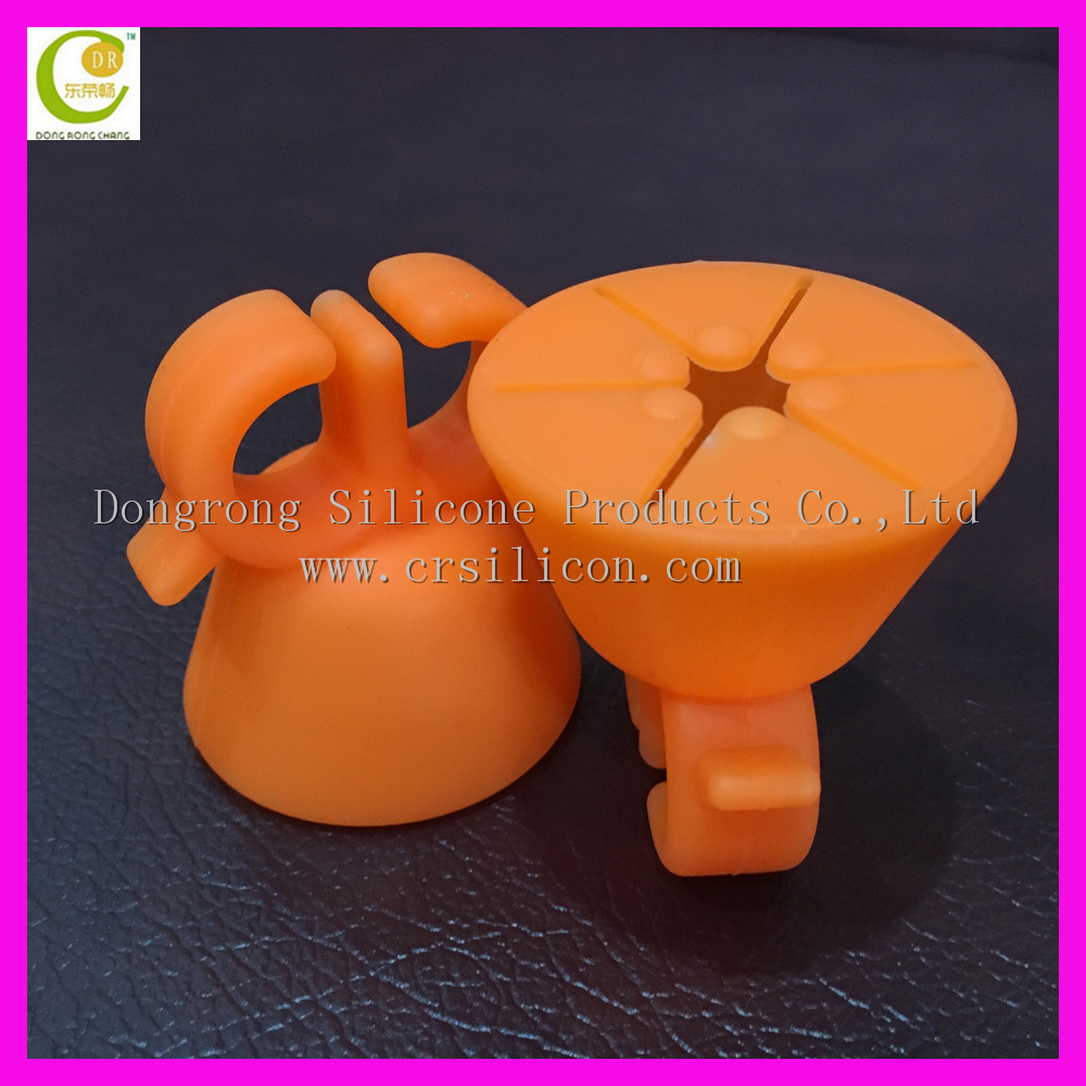Soft various bright candy colors new wearable silicone nail polish ring holder in <strong>orange</strong> for nail art tool