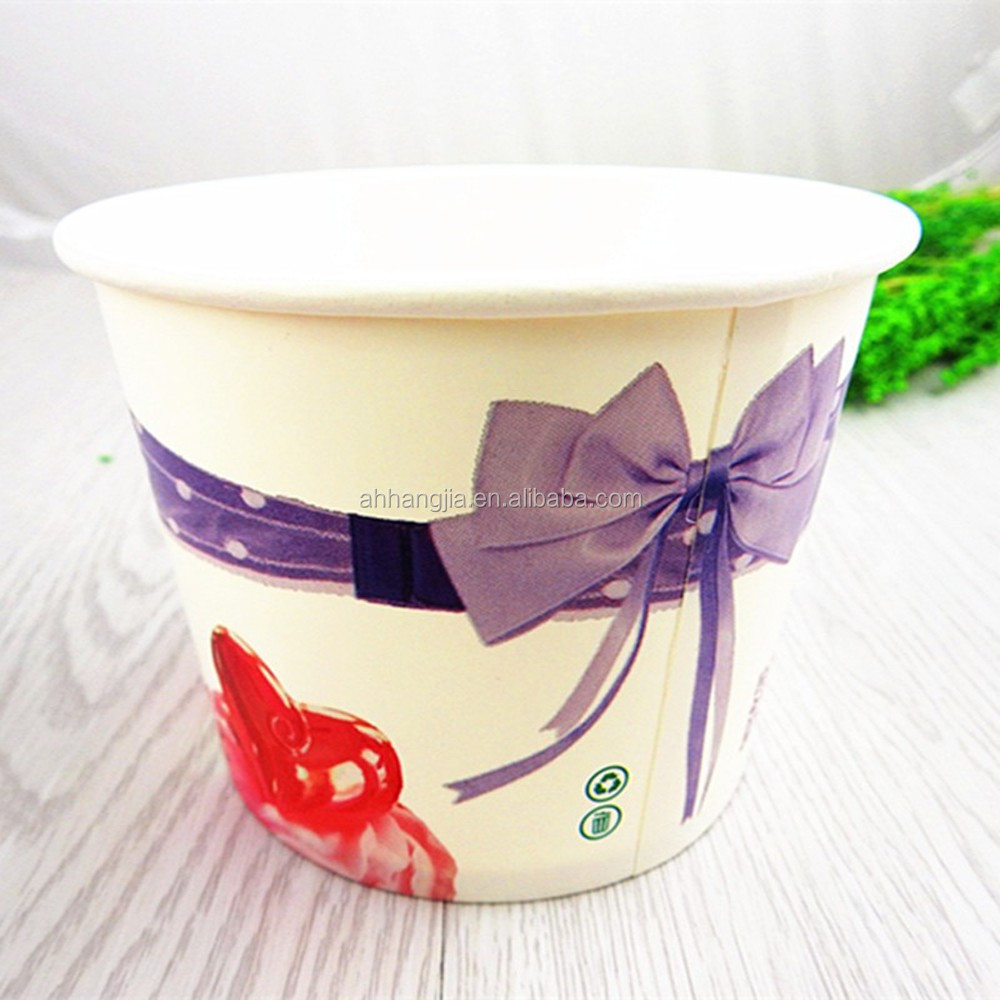 China wholesale latticed printing single wall paper soup bowl