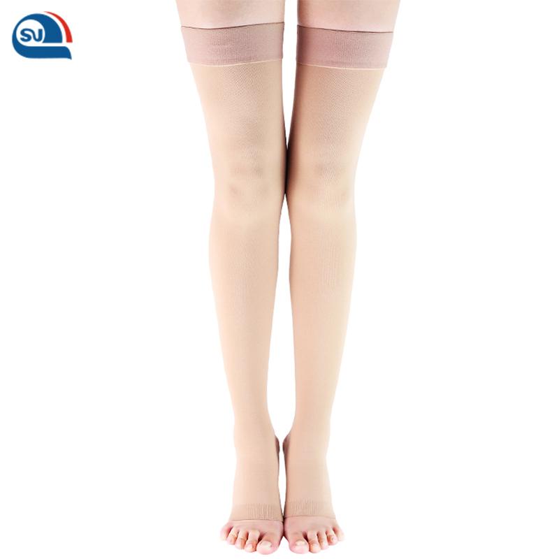 medical compression hosiery hose varicosis hose varicose vein socks medical compression stockings (SeagorCare medical register, Black;carneous