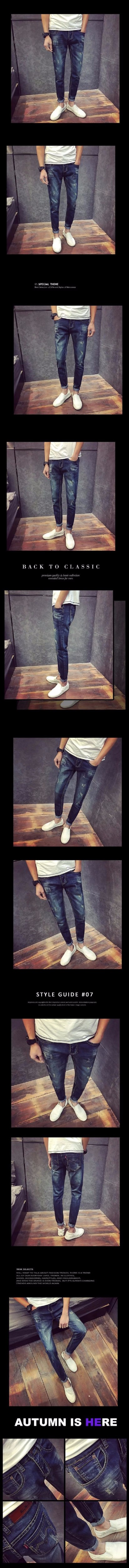 d9735c21171b 2016 Summer fashion new style men `s retro vintage scratched denim pants  tide male street wear slim fit casual jeans trousers