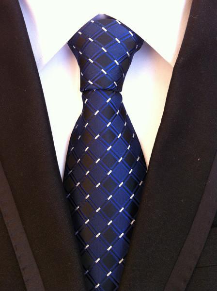 אופנה חדשה מזדמן החתונה לקשור Mens חולצות משובצות פס הדפסה עיצוב עניבה עניבת עסקים 148x8x4cm