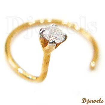 Real Certified Diamond Gold Nose Ring & Diamond Bridal Jewelry