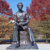 Bronze sculpture garden decor abraham lincoln with children statue
