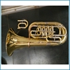 4 flat key brass euphonium in Bb/C tone