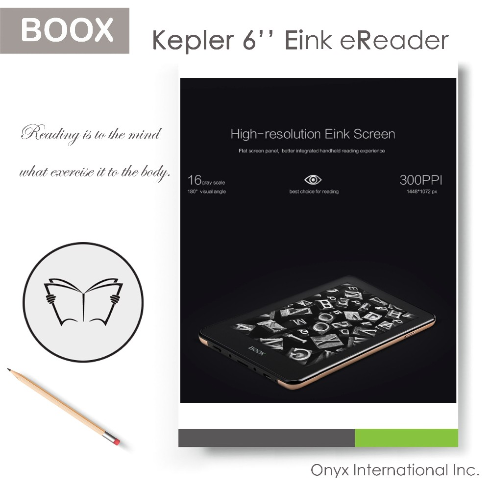 6 inch eink screen ebook reader with metal case more durable